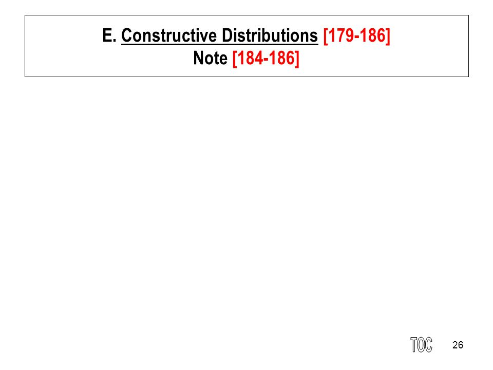 E. Constructive Distributions [179-186] Note [184-186]